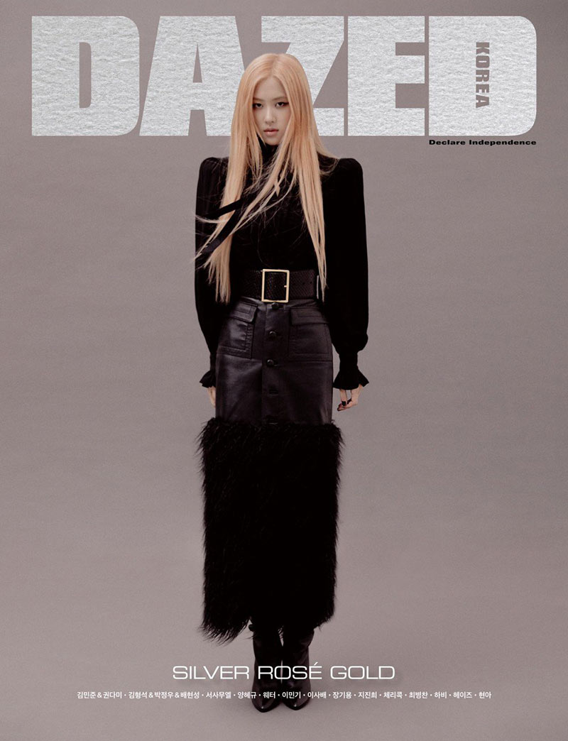 blackpinks rose on dazed korea october issue