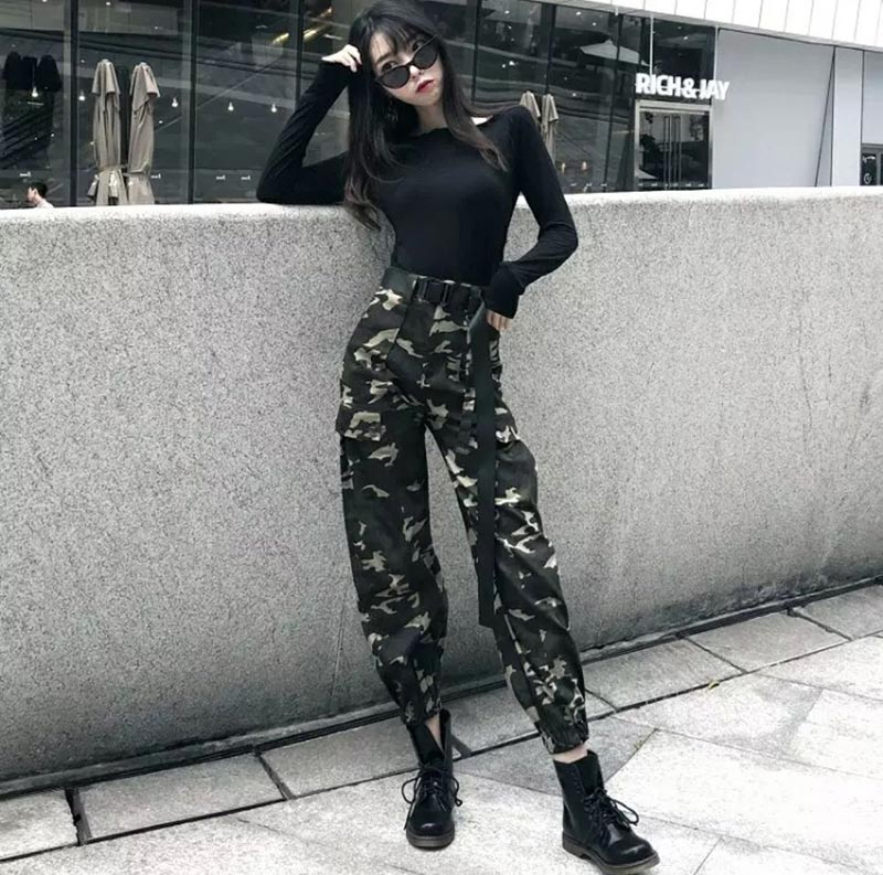 korean fashion camouflage or army style clothing
