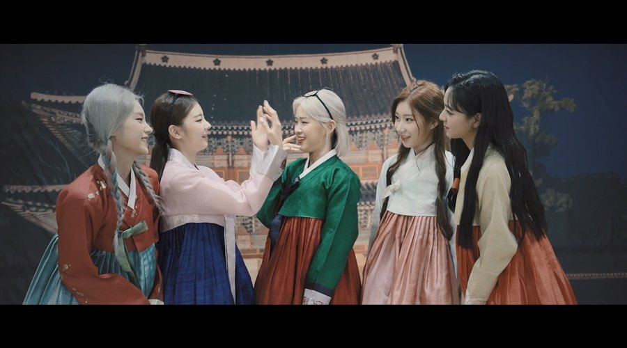 itzy not shy hanbok dance version